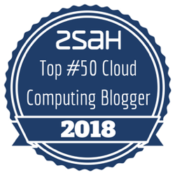 Top Cloud Computing Blogger Badge