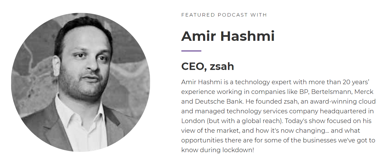 Amir zsah tech talks